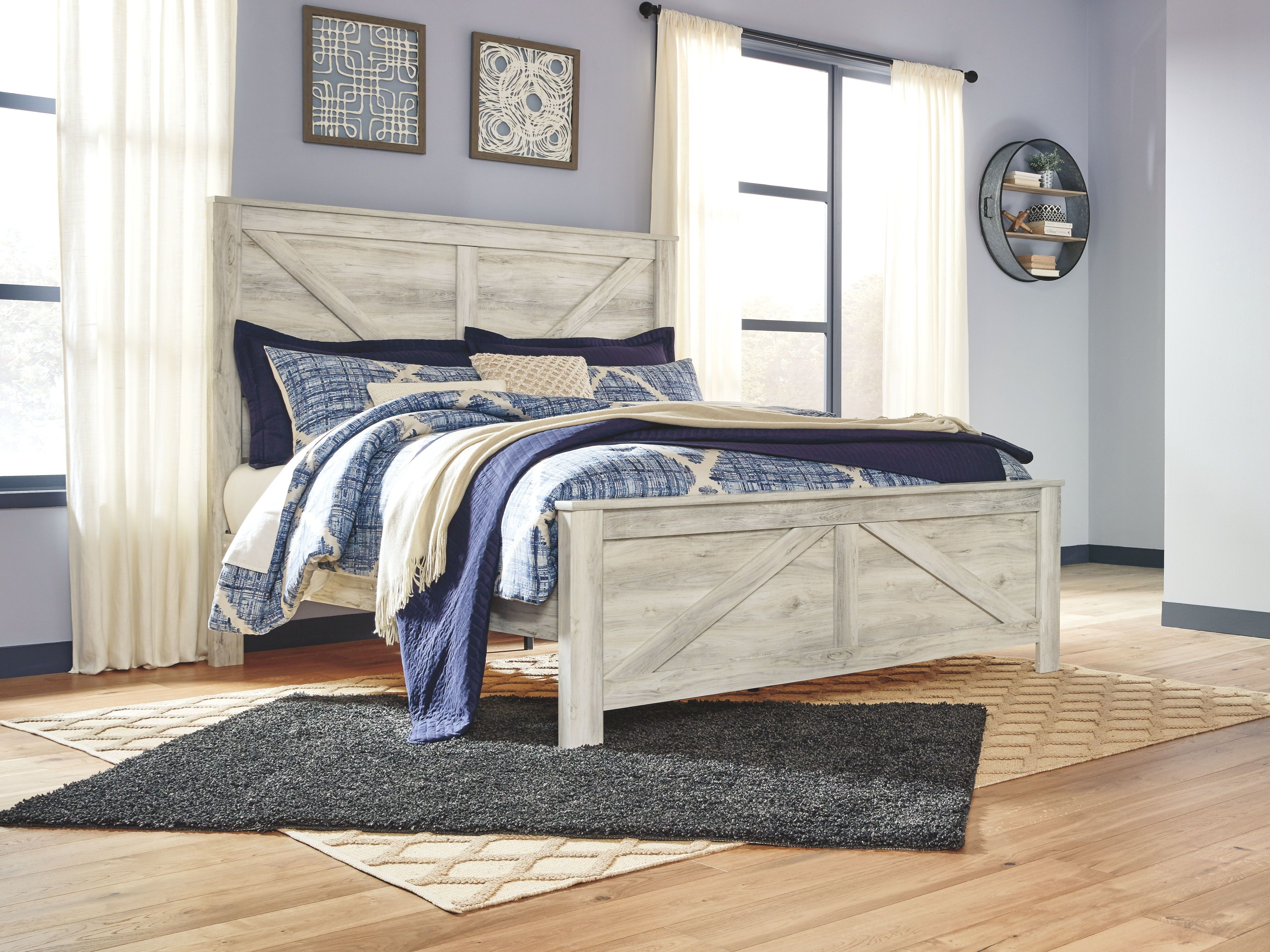 Bellaby Whitewash Queen Panel Bed Panel bed, Bed