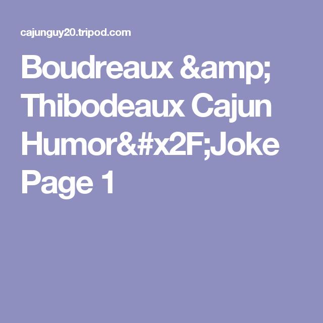 Boudreaux jokes