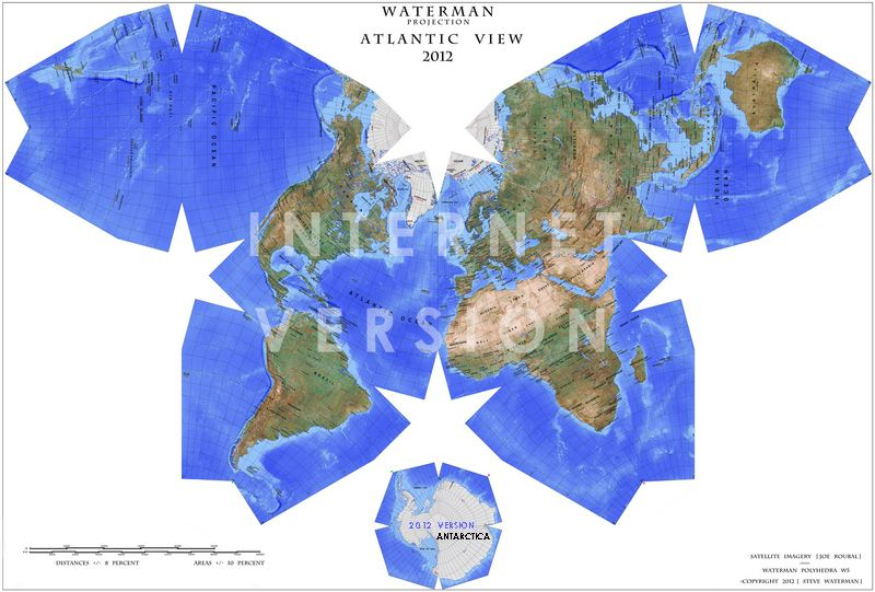 Waterman Butterfly Projection World Map Map Map Design Space Art