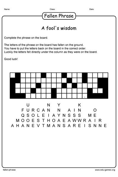 Human Anatomy Labeling Worksheets Fallen Phrase Puzzle Maker Creates Printable Worksheets The  Linear Inequalities Worksheets Word with 1040ez Line 5 Worksheet Excel Fallen Phrase Puzzle Maker Creates Printable Worksheets The Letters Of The  Phrase Felt From A Math Worksheets For Preschool Free Printable