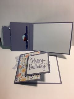 Stylized Birthday Card, Special Celebrations, Secret Pocket Gift Card Holder