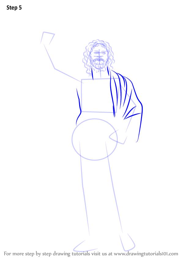Zeus Easy Drawing : drawing, DrawingTutorials101.com, Zeus,, Drawings,