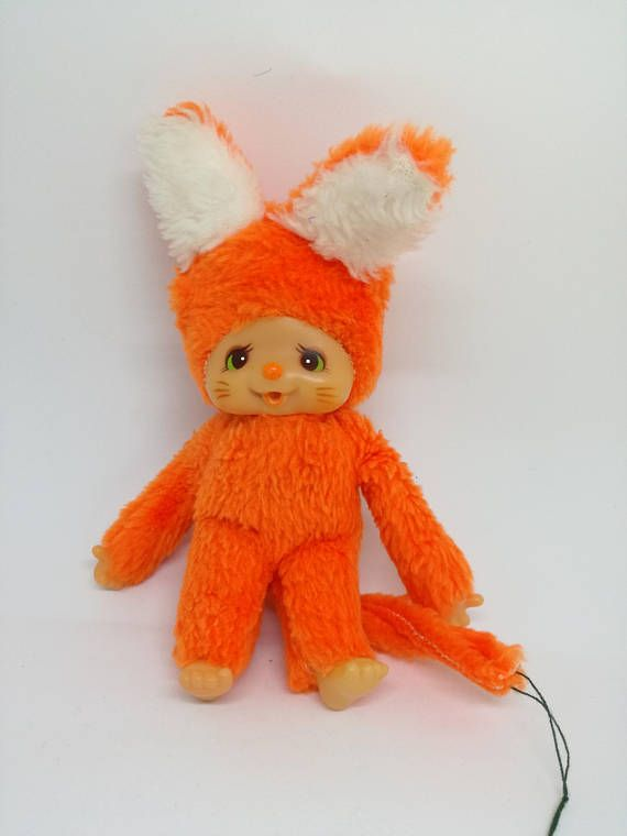 Vintage plush stuffed animal fox