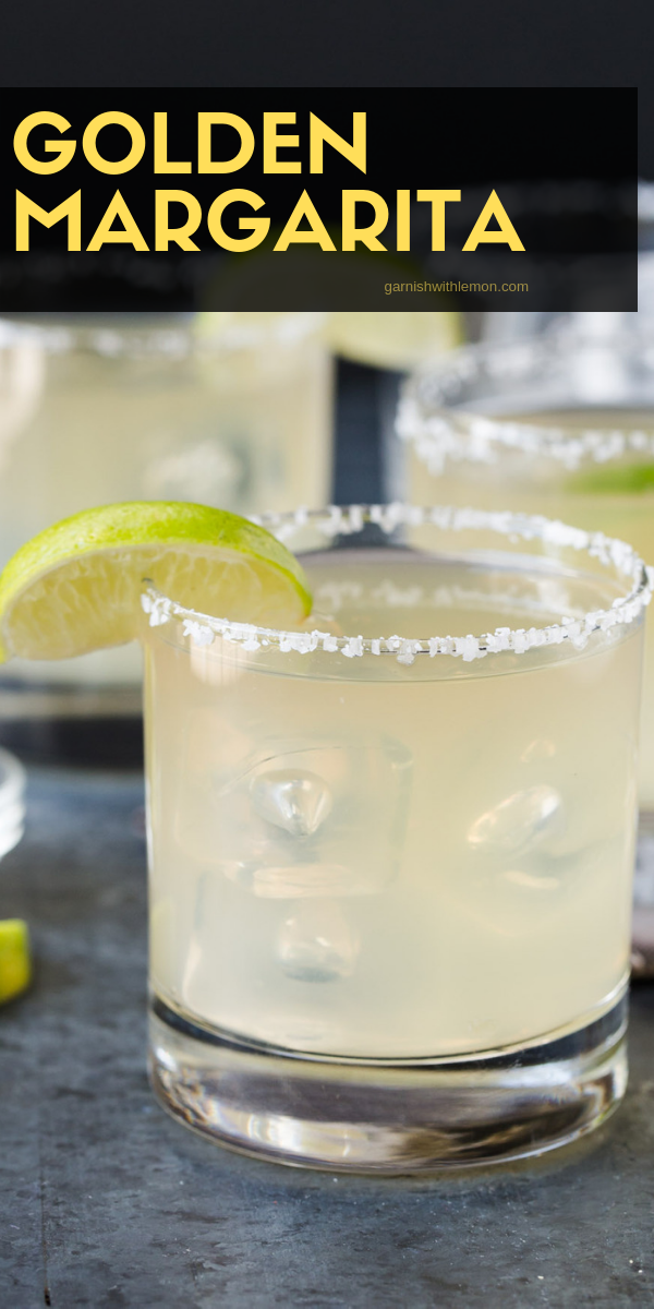 Golden Margarita Recipe You only need 4 ingredients to make the ultimate Golden Margarita! One sip and you will never drink a mix again. This classic cocktail is the BEST Margarita you will ever try!