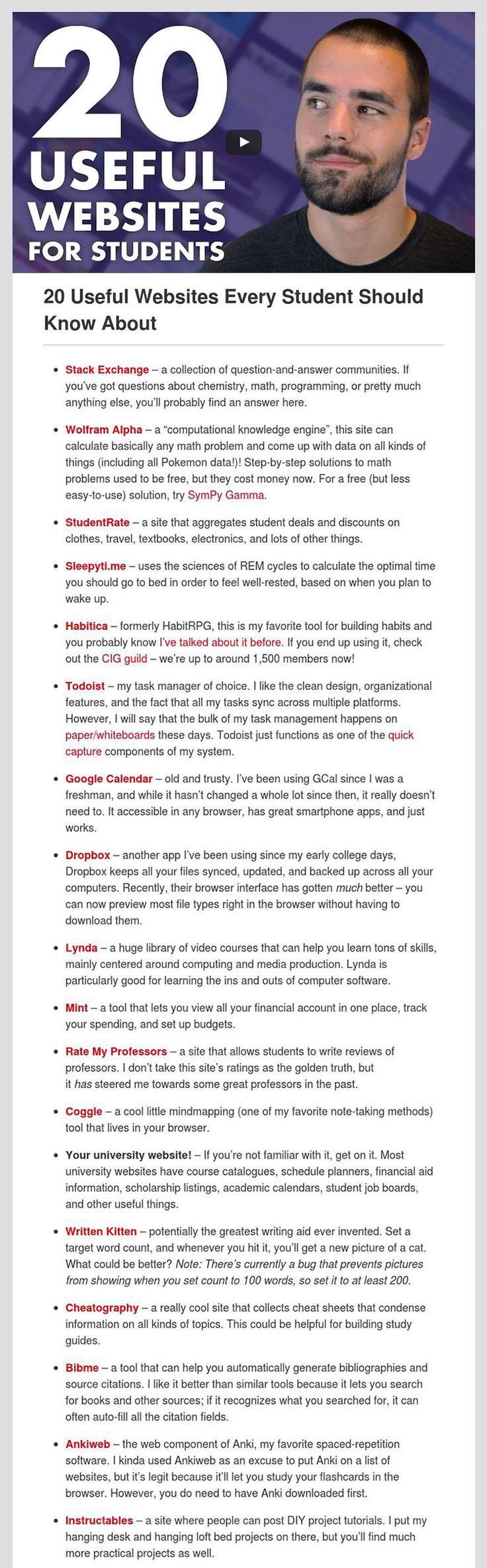 Top-Ten der Studenten Websites