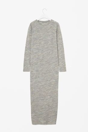 Melange wool dress