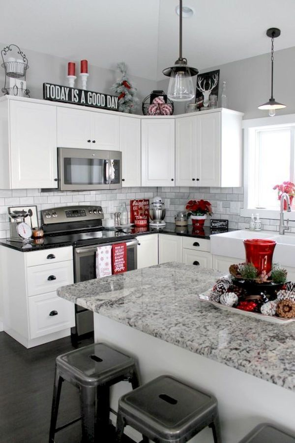 Popular Elegant Christmas Kitchen Decor Ideas And Makeover 9