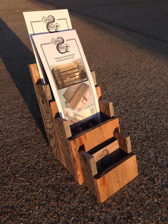 pallet business card    double brochure holder by givetake