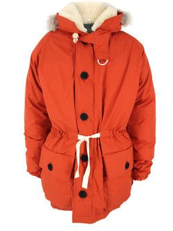 82b08e8bfb9c Nigel Cabourn Authentic - mens Edmund Hillary replica parka made from  orange 100% Ventile proofed cotton