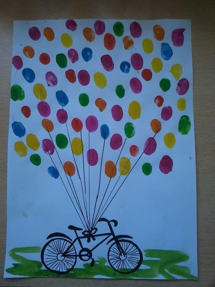 Parmak Boyasi Etkinlik Balonlar Cocuklar Icin Sanat Boyama Sayfalari
