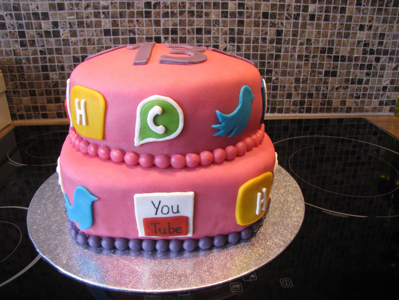 Social Media Cake Torta Para Fiesta Tortas Pastel De Tortilla
