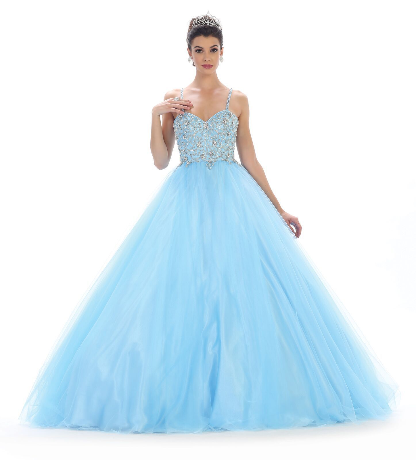 TheDressOutlet Long Quinceanera Sweet 16 Ball Gown Prom Dress | Ball ...