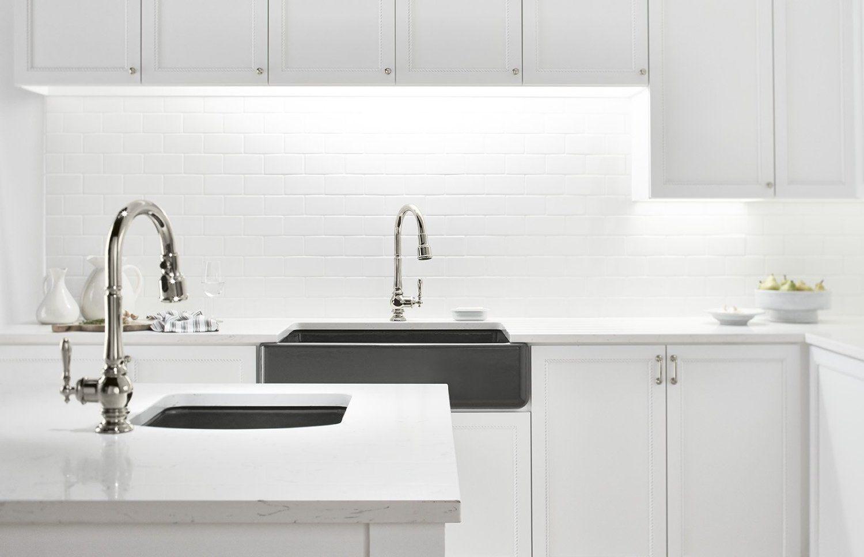 Amazon Com Kohler K 99261 Sn Artifacts Single Hole Kitchen Sink
