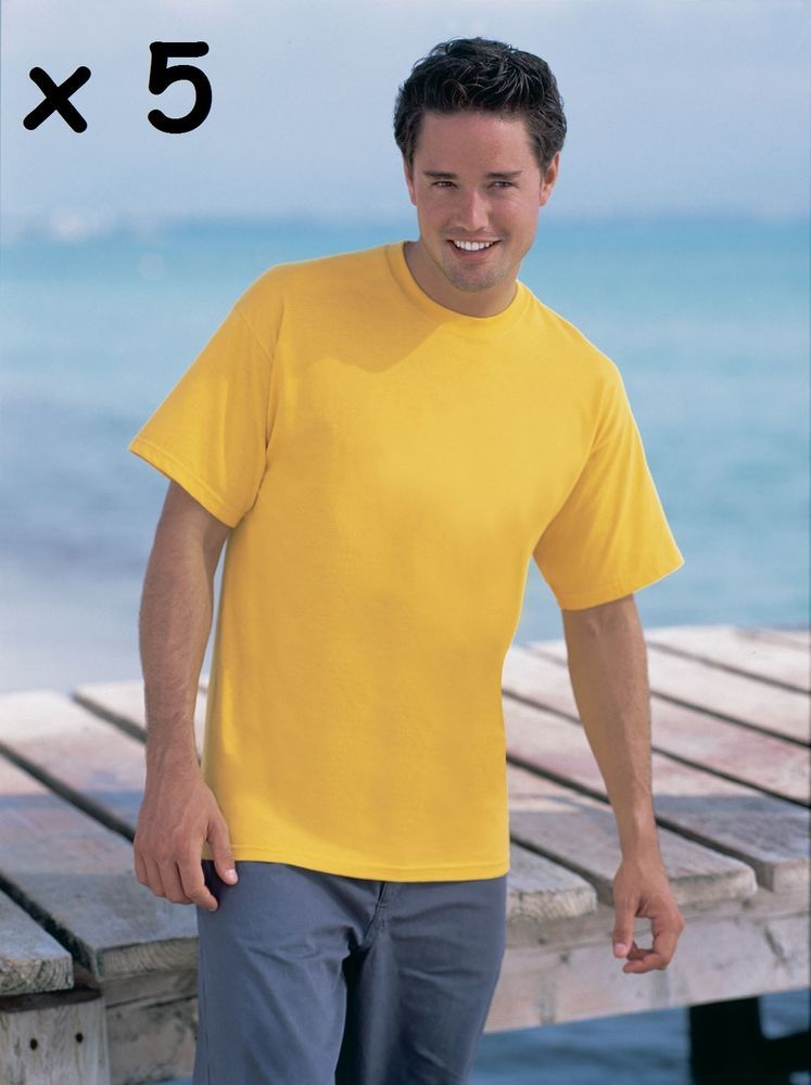 1832789951e 5 x Fruit Of The Loom Valueweight T-Shirt - Sunflower Yellow Mens XL Box64  30 B  fashion  clothing  shoes  accessories  mensclothing  shirts  ad (ebay  link)