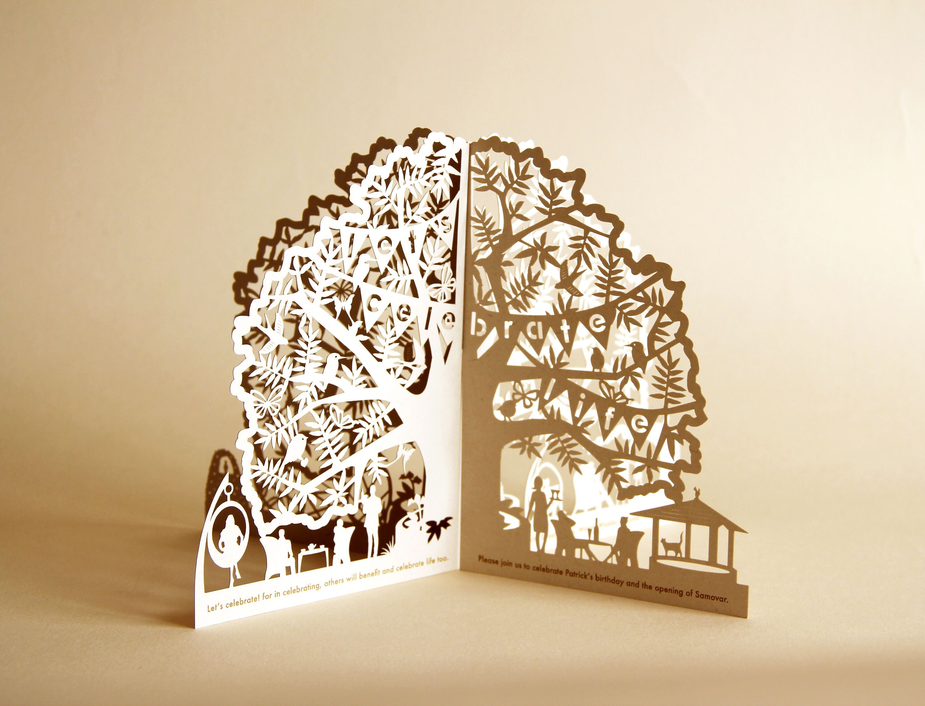 Banyan Tree Restaurant Invite | Company ideas | Pinterest | Laser ... for Laser Cut Designs Paper  66pct