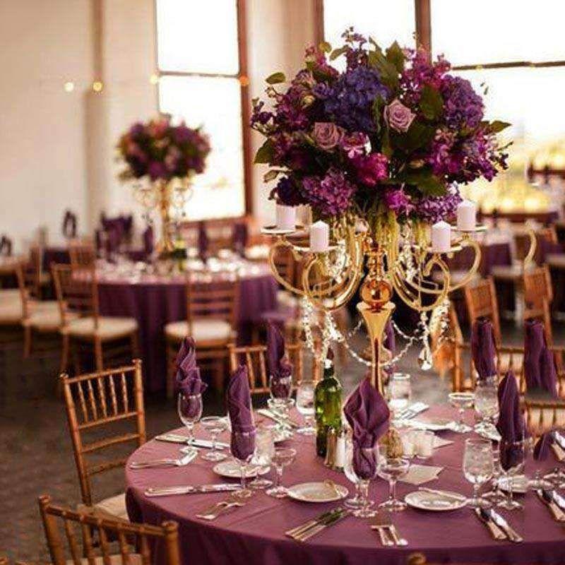acrylic wedding chandelier crystals Purple Tear Drop Crystals Pack of 10