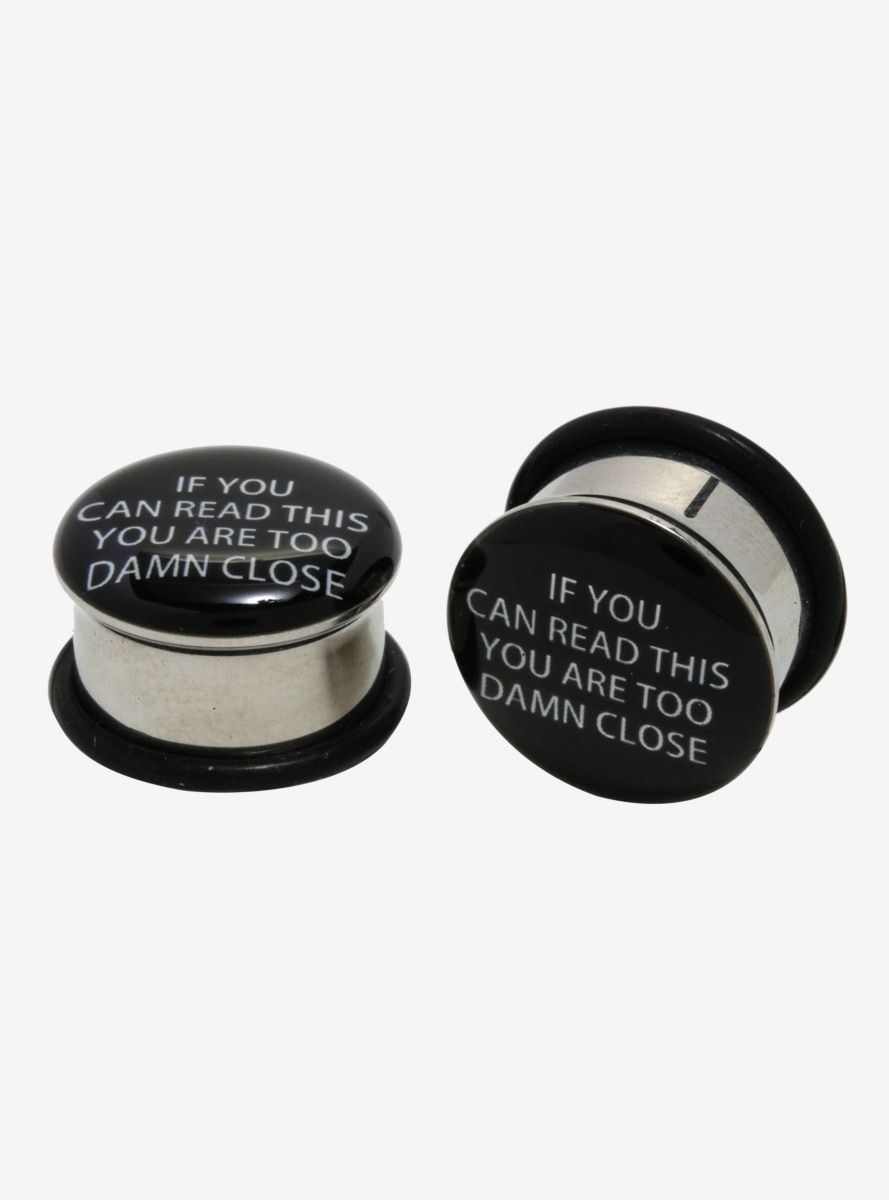 Flare Tunnel Too Close Quote Plug 2 Pack