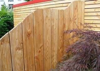 Sichtschutz aus Riffelholz Eigenbau leicht möglich (mit