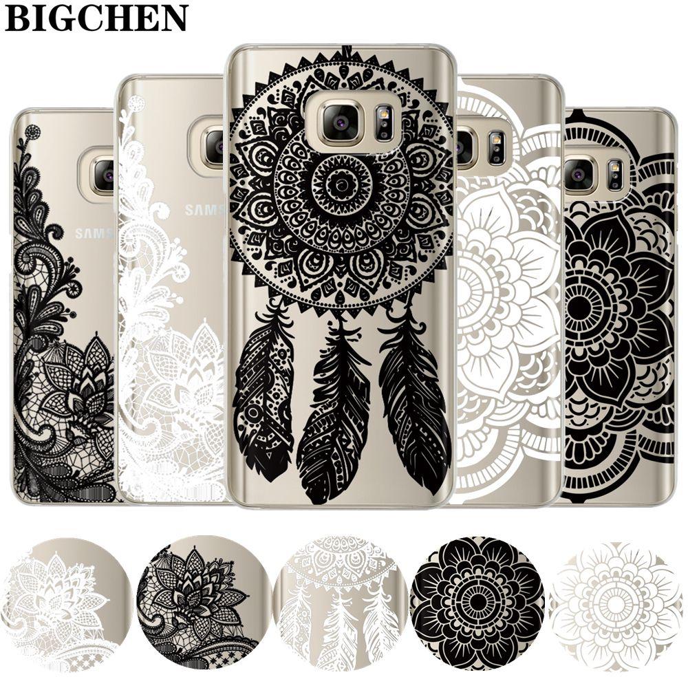 Dentelle florale Mandala Cas Pour Coque Samsung Galaxy Grand ...