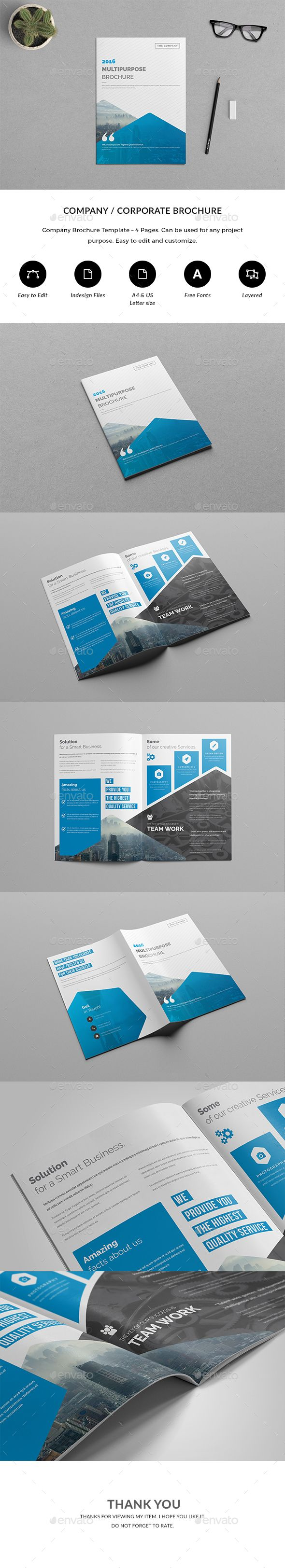 brochure 4 pages template indesign indd brochure templates