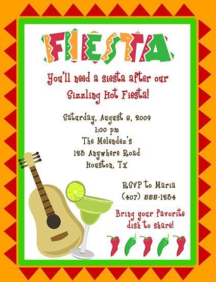 fiesta birthday party invitations kids birthday misc occasions