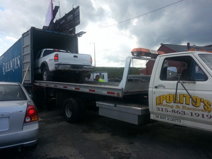 That's how it's done ! Photo by Epolito's Towing