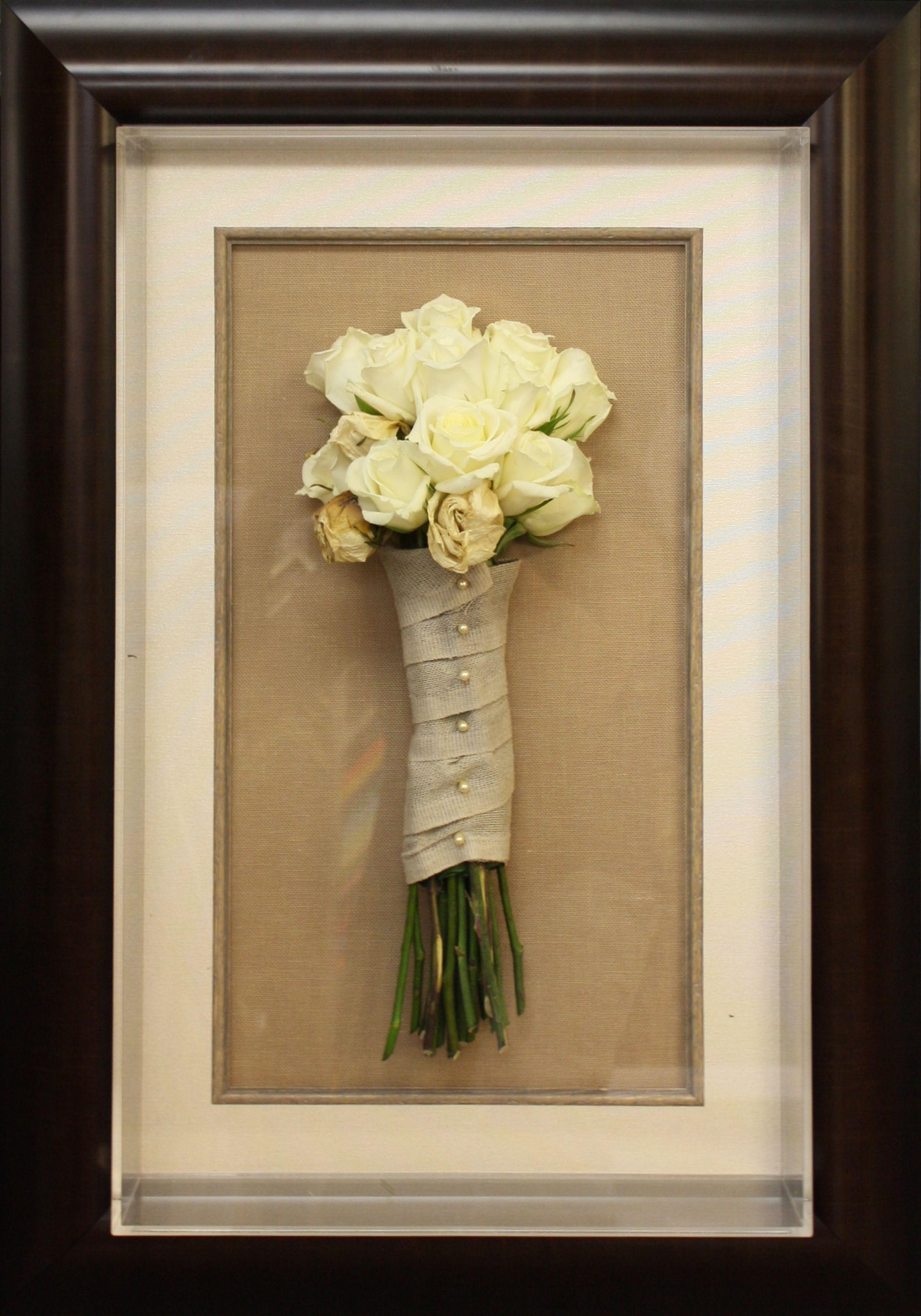 Preserve Your Memories And Wedding Bouquet In Framed Shadowbox