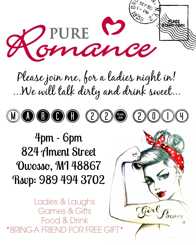 Ericka Good Pure Romance Party Invitation   Pure Romance ...