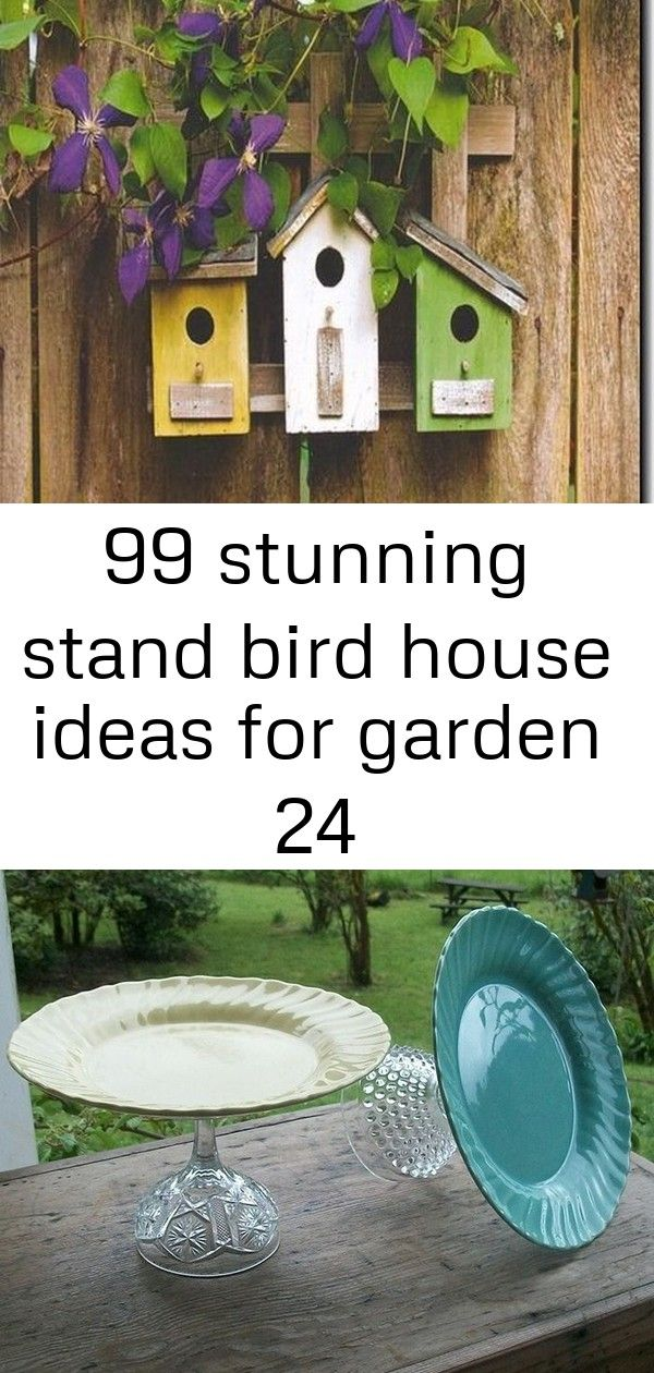 99 stunning stand bird house ideas for garden 24  The garden bird houses are great for attracting birds to a persons backyard or just for decoration As decorations these...