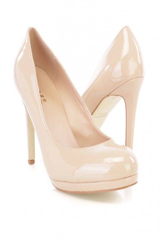 d19d52a878ad Nude Patent Closed Toe Pump High Heels High Heel Pumps