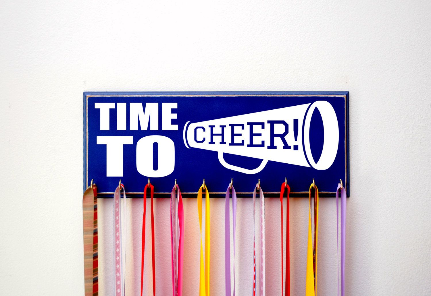 Time to Cheer, Cheerleader Medal Holder for Cheer Medals, Cheerleader gift, Gift For Teen, High School Cheerleader, Cheerleader Lets Go Team by UntamedBranches on Etsy