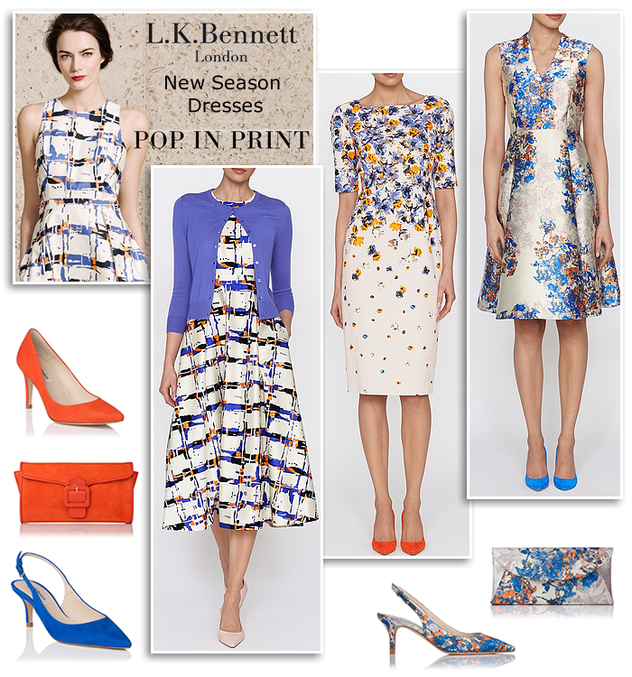 192fc78ad02 L K Bennett floral print flared midi dress shift cocktail dresses Ascot wedding  guest Mother of the Bride occasion outfits and bridal shoes
