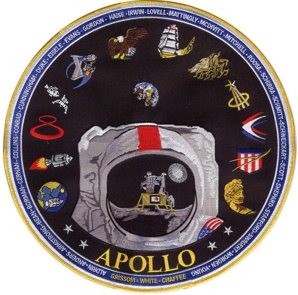 apollo mission patches - 600×594
