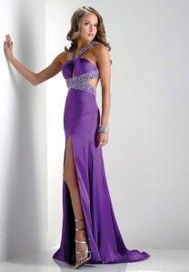 vestidos largos en color violeta 4