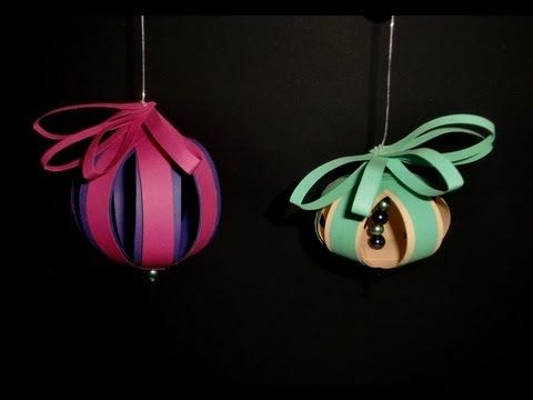 Kugeln aus Papier: Christmas balls - Paper Craft [HD/DE] - YouTube