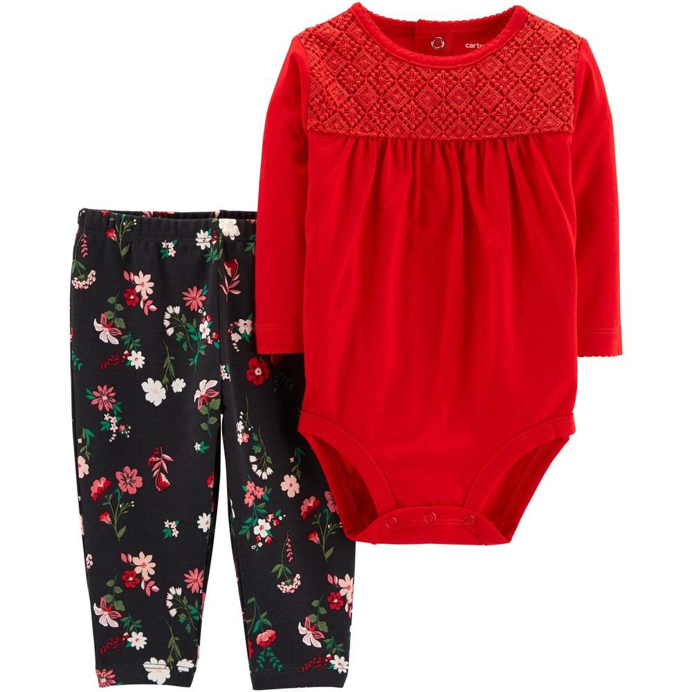 5efa2e4ca77 Baby Girl Carter s Bodysuit   Floral Pants Set
