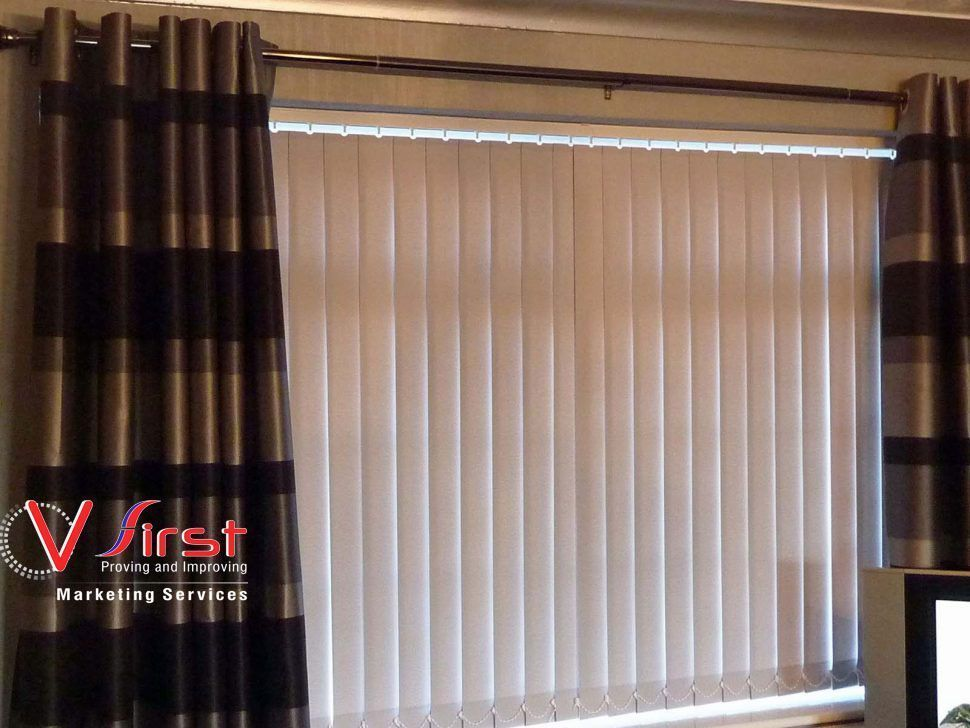 Vertical Blinds In Coimbatore Are The Best Solution For Huge Windows It Controls Light Privacy And Easy To Maint Diy Blinds Blinds Design Sliding Door Blinds