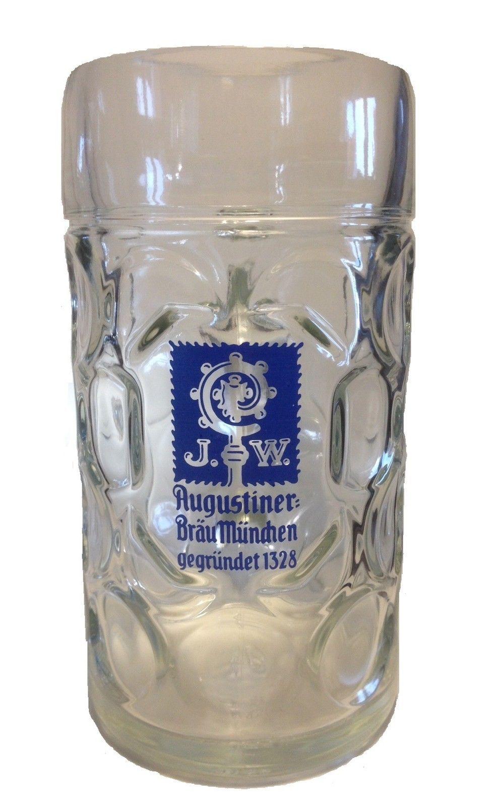 Augustiner Brau - German Beer Glass 1.0 Litre Stein ...