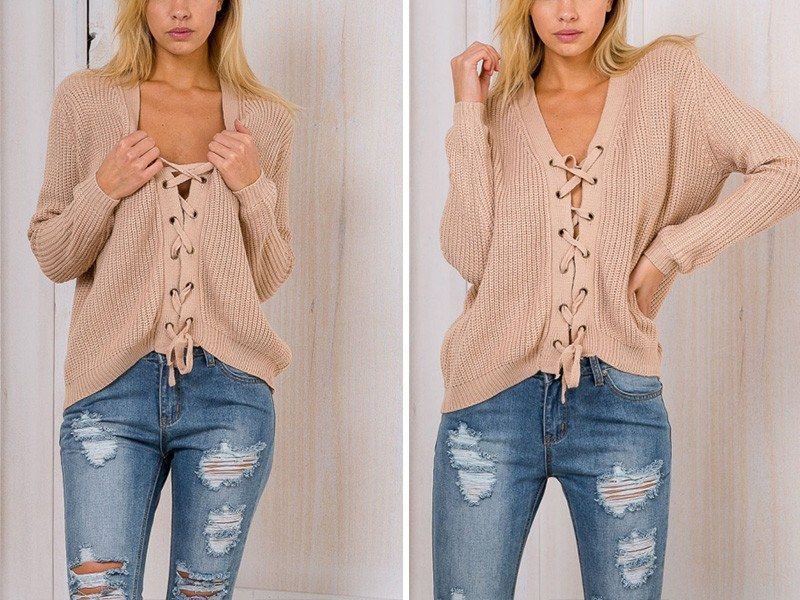 Material: Cotton,Polyester,Acrylic Material Composition: Acrylic Style: Casual Technics: Computer Knitted Collar: V-Neck Sleeve Length: Full Clothing Length: Regular Item Type: Pullovers Sleeve Style: