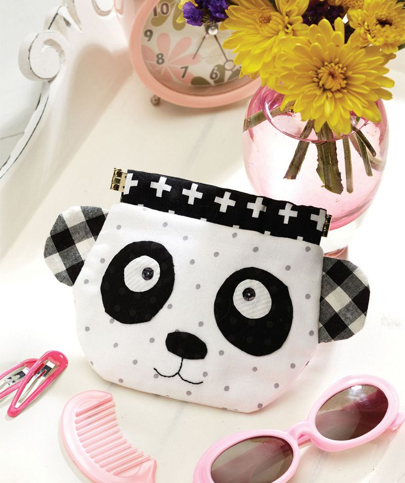 Pretty Panda Snap Purse Free Pattern + Tutorial | Handtassen ...