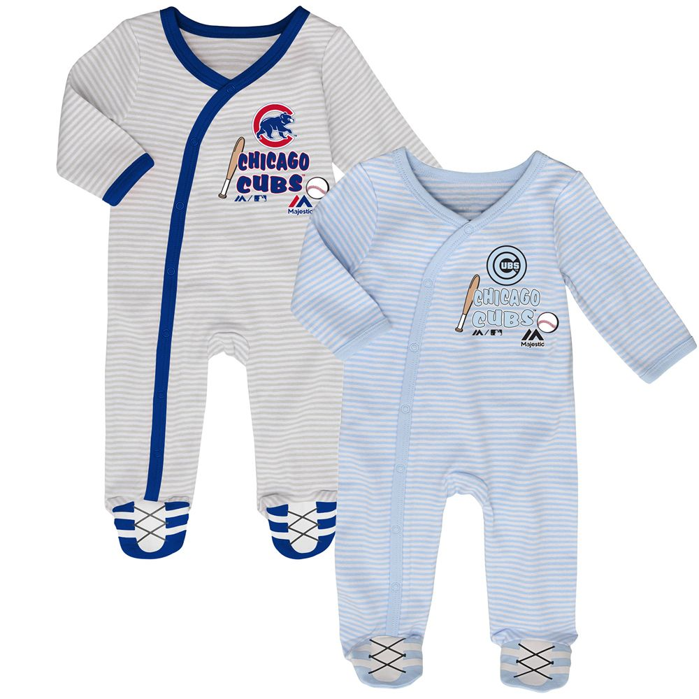 chicago cubs gameday best newborn 2 piece coverall pajama set by