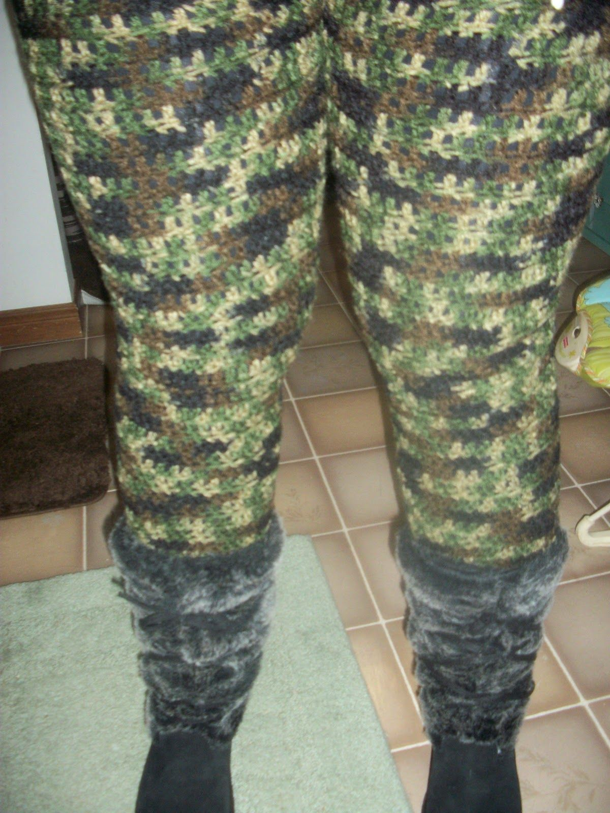 Crochet Tights with Free Pattern.... not going to do it in camo but ...