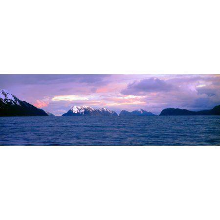 Resurrection Bay and Kenai Fjords National Park Kenai Peninsula Alaska Canvas Art - Panoramic Images (27 x 9)