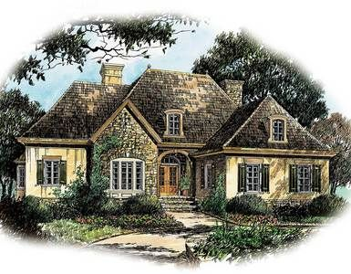 French Country Charm - 56130AD   1st Floor Master Suite, CAD Available, European, French Country, Jack & Jill Bath, PDF, Photo Gallery, Sloping Lot   Architectural Designs