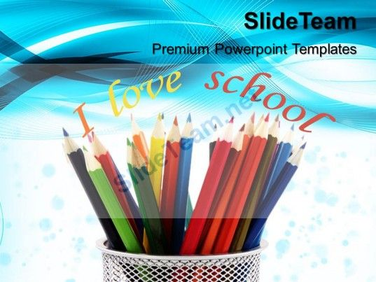 Teacher powerpoint templates pencils education ppt slides check out this amazing template to make your presentations look awesome at toneelgroepblik Image collections