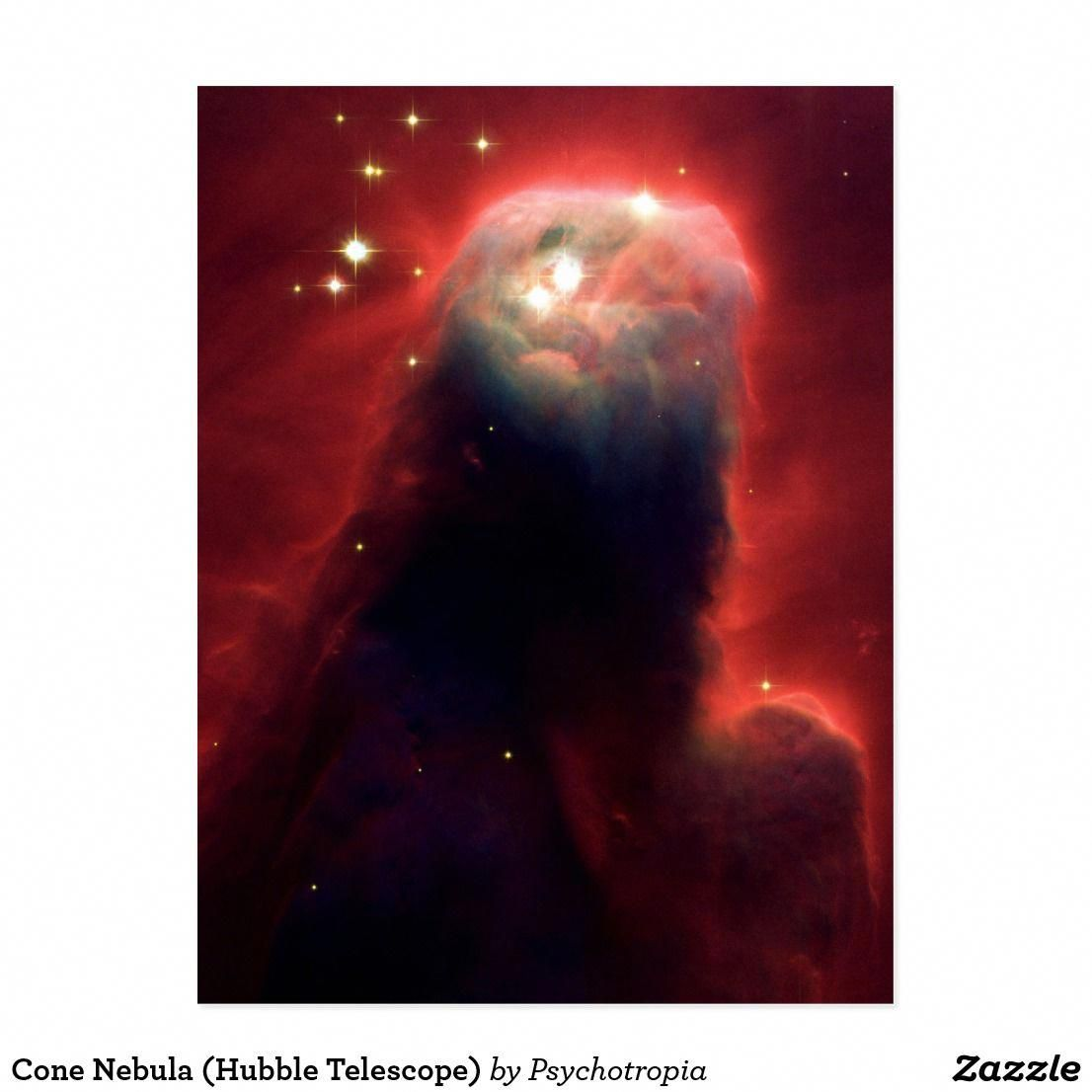 Cone Nebula (Hubble Telescope) Postcard (With images