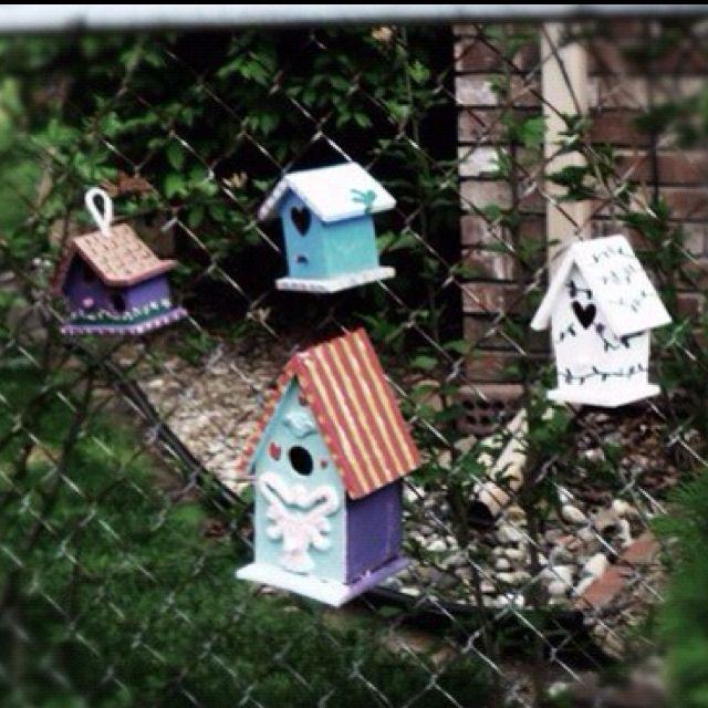 Bird houses outdoors style home house backyard decor