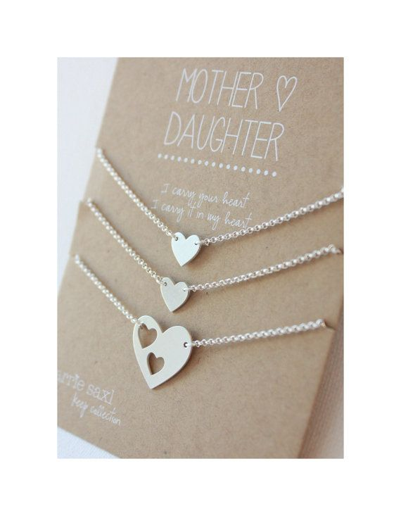 mother 2 daughters bracelet set mother 39 s day gift silver hearts mother daughter jewelry. Black Bedroom Furniture Sets. Home Design Ideas