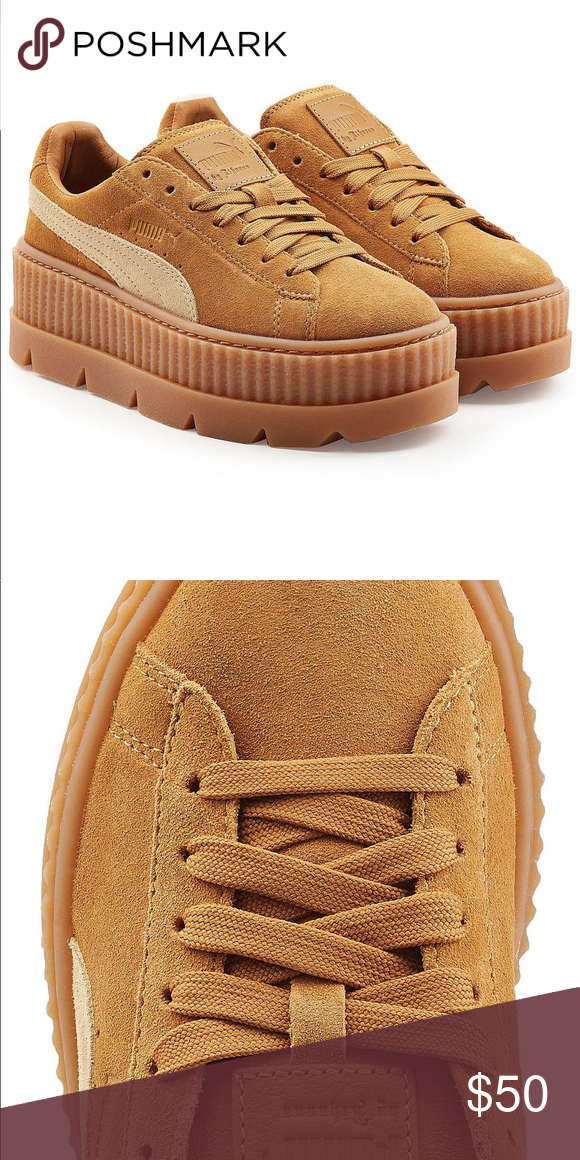 timeless design 55312 90ed0 Puma Fenty Cleated Creeper Tan suede Puma Shoes Sneakers ...