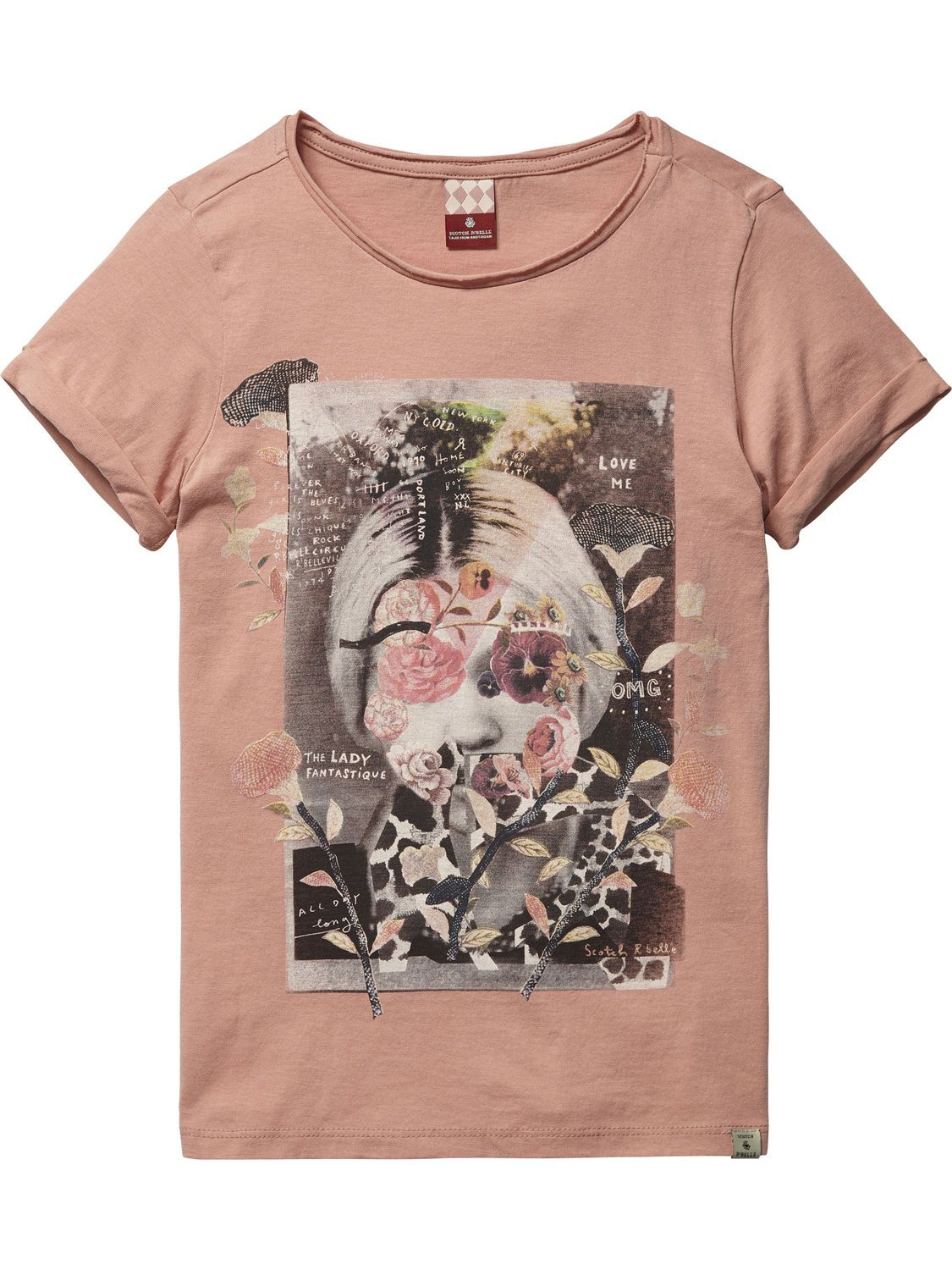Womens Loose Fit Tee with Various Allover Prints T-Shirt, Blue Scotch & Soda